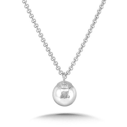 Sterling Silver Dangle Ball Pendant