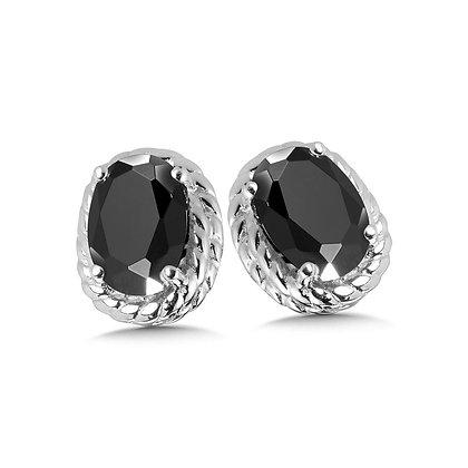 Onyx Earrings in Sterling Silver