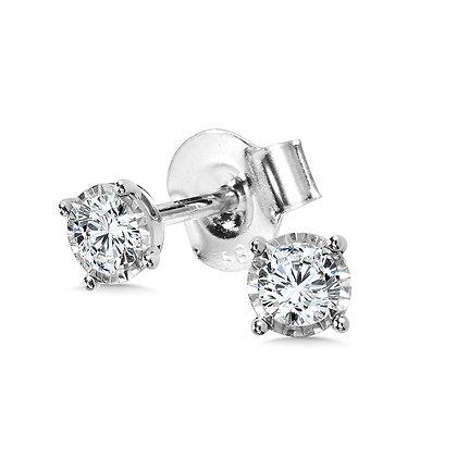 1/4 TDW 4-Prong Diamond Star Studs