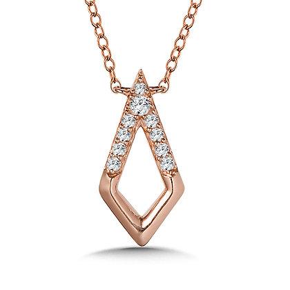 10K Diamond Kite Necklace