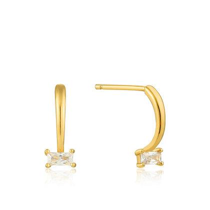 GOLD GLOW CURVE EARRINGS