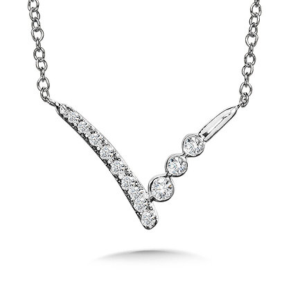 V-SHAPED DIAMOND NECKLACE