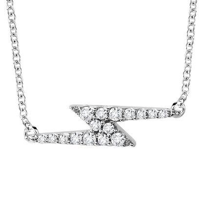 10K Lightning Bolt Diamond Necklace