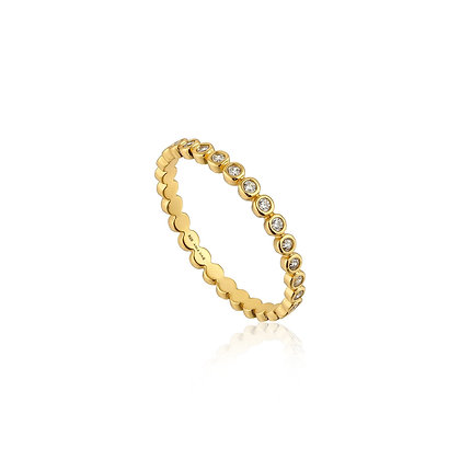 Gold Shimmer Half Eternity Ring