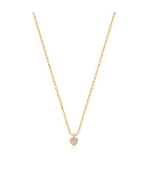 STERLING SILVER GOLD PLATED MIDNIGHT NECKLACE