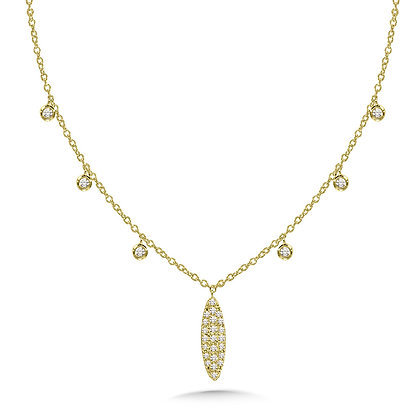 ROUND-BEZEL & OVAL ACCENTED DIAMOND CHAIN NECKLACE