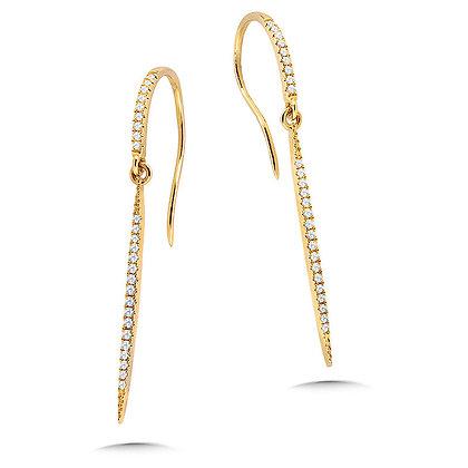 Dangling Hook Diamond Earrings