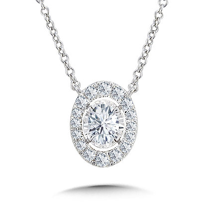 DIAMOND STAR OVAL-SHAPED NECKLACE