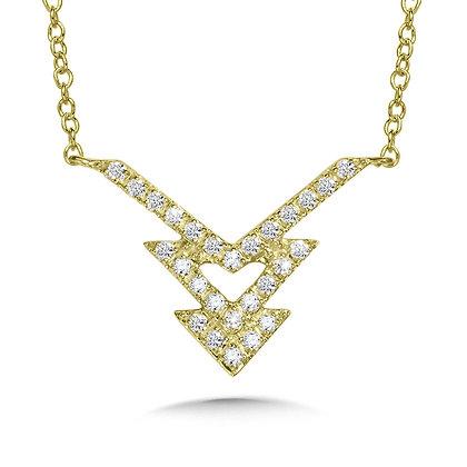 Triple Arrow Diamond Necklace