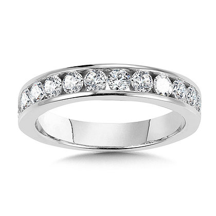 Channel-Set Diamond Wedding Band