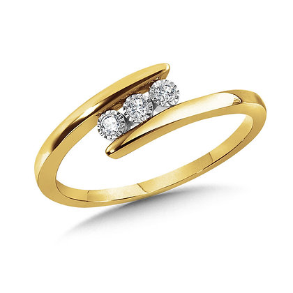 3-Stone Bypass Promise Ring