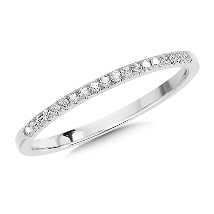 10K White Gold Petite Stackable Diamond Band
