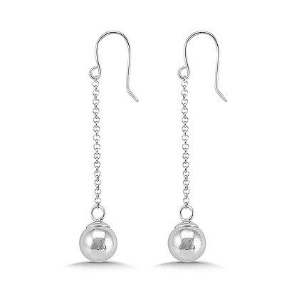 Sterling Silver Dangle Ball Earrings