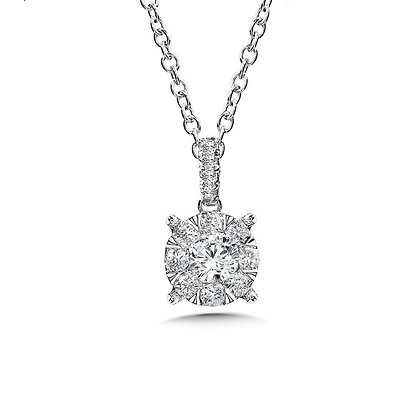 Mirage Cluster Diamond Pendant
