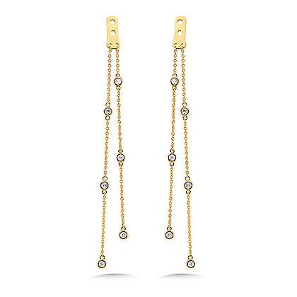 2-Strand Round Bezeled Diamond Enhancer Earrings