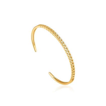 Gold Curb Chain Cuff