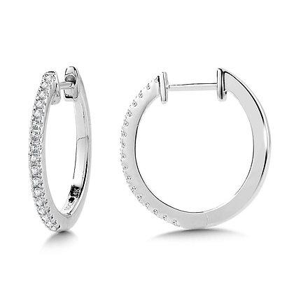 Petite Diamond Huggie Hoop Earrings