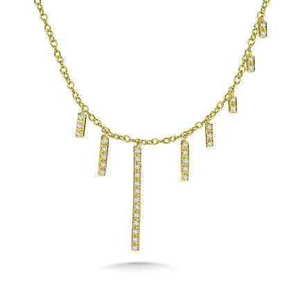 ASYMMETRICAL DIAMOND BAR NECKLACE