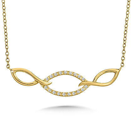 ABSTRACT DIAMOND INFINITY NECKLACE