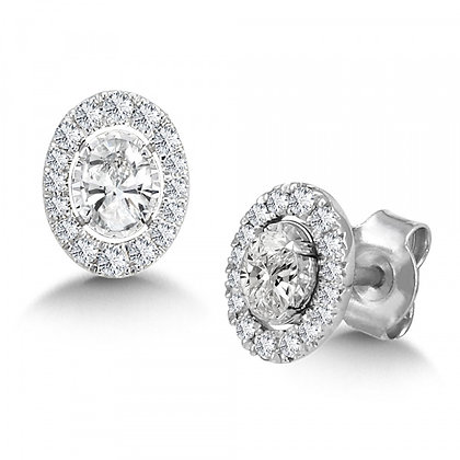 DIAMOND STAR OVAL EARRINGS