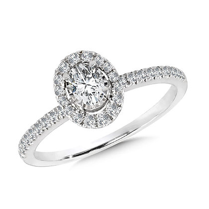 Diamond Star Oval Ring