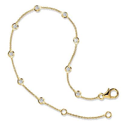 13 Inch Bezeled Diamond Link Bracelet