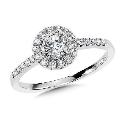Diamond Star Halo Engagement Ring