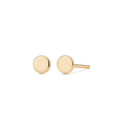 DOT | Disc Stud Earrings