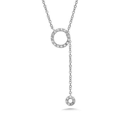 ADJUSTABLE ASYMMETRICAL CIRCULAR DIAMOND NECKLACE