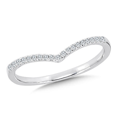 Diamond Enhancer Chevron Wedding Band