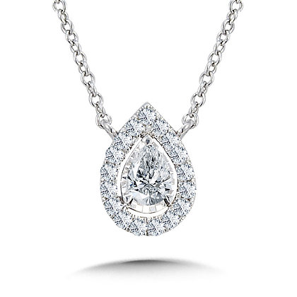 Diamond Star Pear-Shaped Necklace