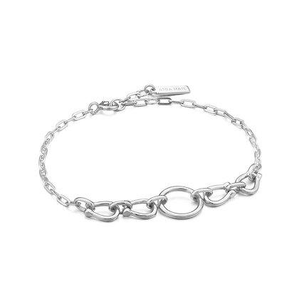 Silver Horseshoe Link Bracelet