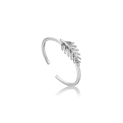 Silver Small Palm Adjustable Ring