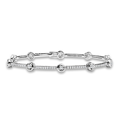 Bezeled & Miracle-Platted Tennis Bracelet
