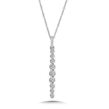 Graduating Diamond Strand Pendant