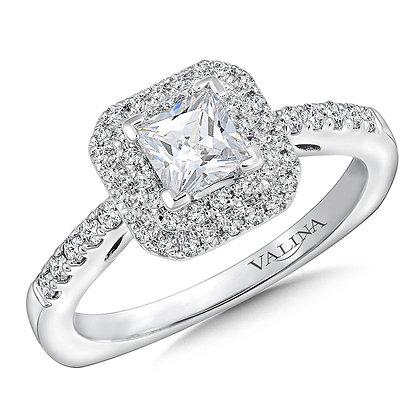 PRINCESS CUT DOUBLE DIAMOND ENGAGEMENT RING