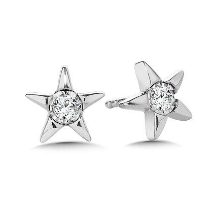 Star-Shaped Diamond Star Studs