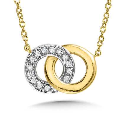 INTERTWINING DIAMOND LOOP NECKLACE