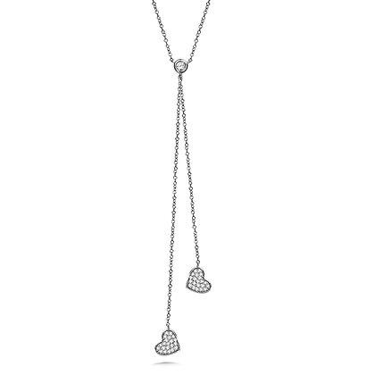 DANGLING HEART DIAMOND NECKLACE
