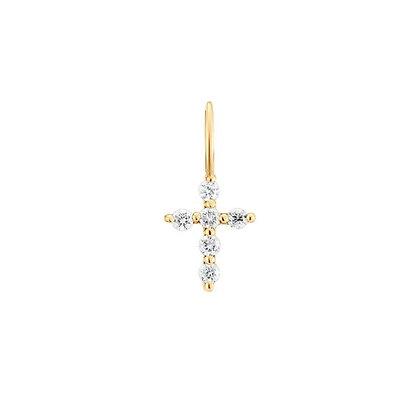 GRACE | Diamond Cross Charm