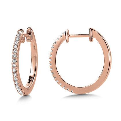 PETITIE ROUND DIAMOND HUGGIE HOOP EARRINGS