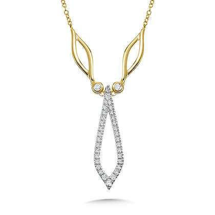 YELLOW & WHITE GOLD MARQUISE DIAMOND NECKLACE