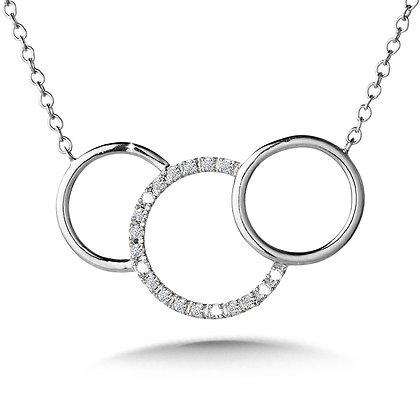 TRI-CIRCULAR DIAMOND NECKLACE