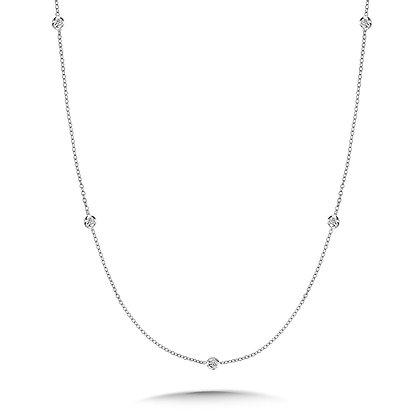 36 Inch Bezeled Diamond By the Yard Necklace