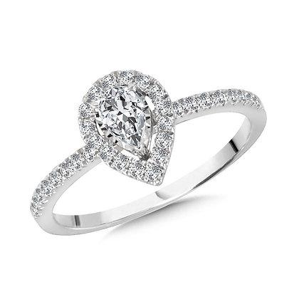 Diamond Star Pear-Shaped Ring