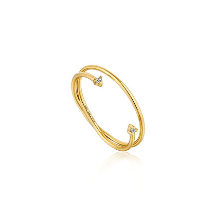 GOLD SHIMMER DOUBLE RING