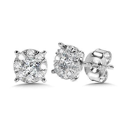 MIRAGE CLUSTER DIAMOND STUDS