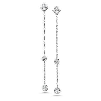 DANGLING CLUSTER DIAMOND EARRINGS