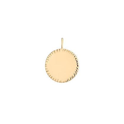 FAITH | Engravable Round Disk Charm