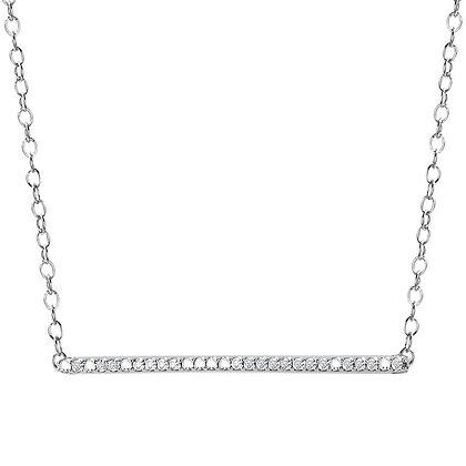DIAMOND BAR NECKLACE